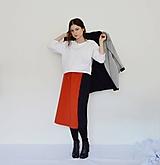 Sukne - Červeno-čierna sukňa - 10602389_