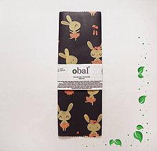 Úžitkový textil - Voskovaný obrúsok - Zajkovia - 10602860_