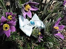 Odznaky/Brošne - Modrá kráska - 10601012_