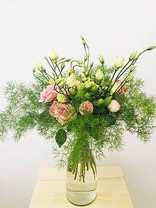 Kytice pre nevestu - ružová gratulačná alebo svadobná kytica zo živých ruží - 10600615_