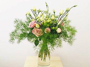 Kytice pre nevestu - ružová gratulačná alebo svadobná kytica zo živých ruží - 10600616_