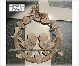 Dekorácie - Celoročný Vintage veniec s menom rodinky :) - 10600282_