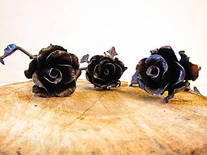 Dekorácie - Kovaná ruža - medená - 10602521_