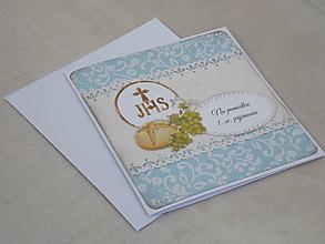 """Papiernictvo - ...pohľadnica """"chlieb a víno""""... - 10600608_"""