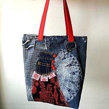 """Veľké tašky - Taška """"Recyklačka čipkovaná"""" - 10601860_"""