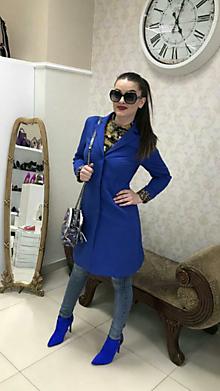 Kabáty - Jarný kabát s opaskom - 10599380_