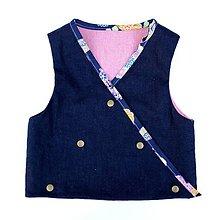 Detské oblečenie - chlapčenská sviatočná ľanová vesta