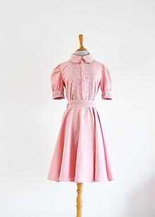 Šaty - Ružové šaty s romantickou krajkou - 10602144_