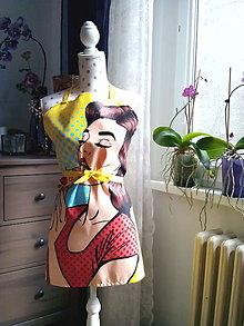 Iné oblečenie - Retro kuchynská zásterka (Pin Up dievča) - 10604060_
