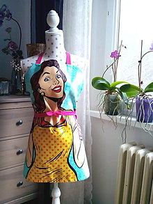 Iné oblečenie - Retro kuchynská zásterka (Pin Up dievča) - 10604106_