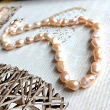 Náhrdelníky - Freshwater Pearls Necklace / Náhrdelník zo sladkovodných pravých perál v broskyňovej farbe #2070 - 10604349_
