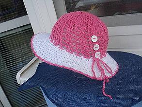 Detské čiapky - letný  klobučik /detský - 10604337_