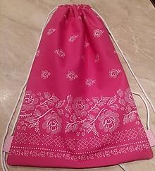 Batohy - vrecko na chrbát - ružové - 10606416_