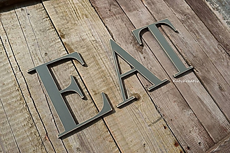 Tabuľky - EAT-18cm písmená - 10604026_