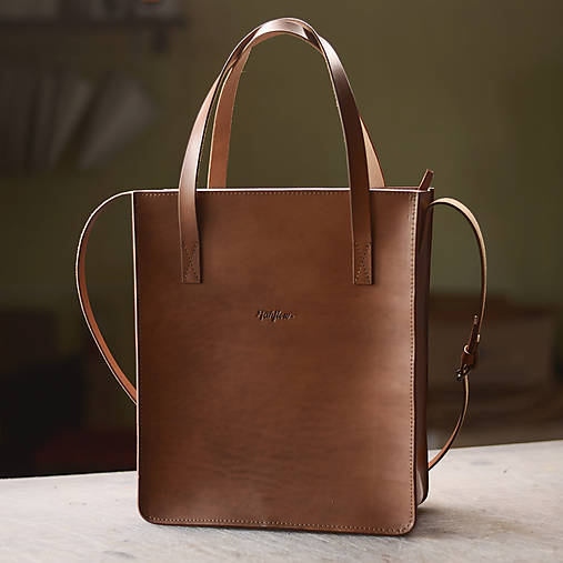 Veľké tašky - Odesa - kožená taška - 10603861_