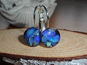 Náušnice - blue deep opals for your happy days... - 10606847_