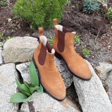 Obuv - Dámské chelsea topánky (Modrá) - 10605572_