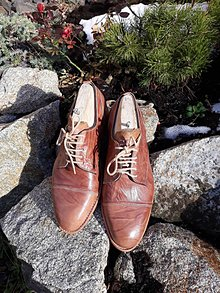 Obuv - Hand made pánské  topánky z kože - 10605642_