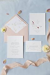 Papiernictvo - Svadobné oznámenie Malinové - 10603032_