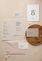 Papiernictvo - Svadobné oznámenie Transparent minimal II - 10603073_