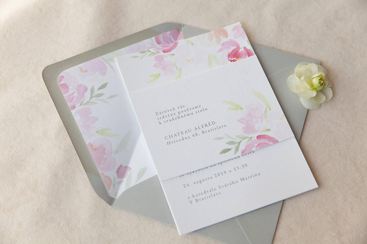 Svadobné oznámenie Pivon