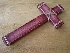 Dekorácie - Krížik (18,5 cm - Červená) - 10603823_