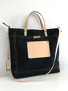 Veľké tašky - Sasi 5 / Blue denim - 10603053_