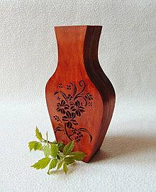 Dekorácie - Drevená váza - 10603890_