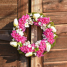 Dekorácie - Jarný venček s hyacintom - 10606727_