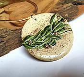 Náhrdelníky - Keramický šperk  -Rastliny v kruhu- - 10604908_