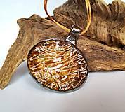 """Náhrdelníky - Keramický šperk """" Zlatý mok """" - 10605230_"""