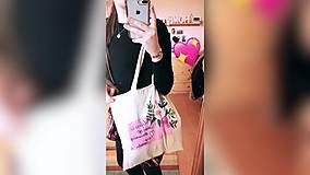 Iné tašky - ♥ Plátená, ručne maľovaná taška ♥ - 10603528_