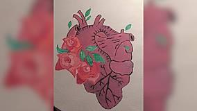 Iné tašky - ♥ Plátená, ručne maľovaná taška ♥ - 10604496_