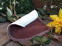 Úžitkový textil - KOZMETICKÝ TAMPON hnedo krémový - 10606717_