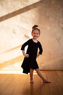 Šaty - Šaty Bambus detské (S - Čierna) - 10604936_