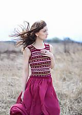 Šaty - Oasis dress bordo - 10604701_
