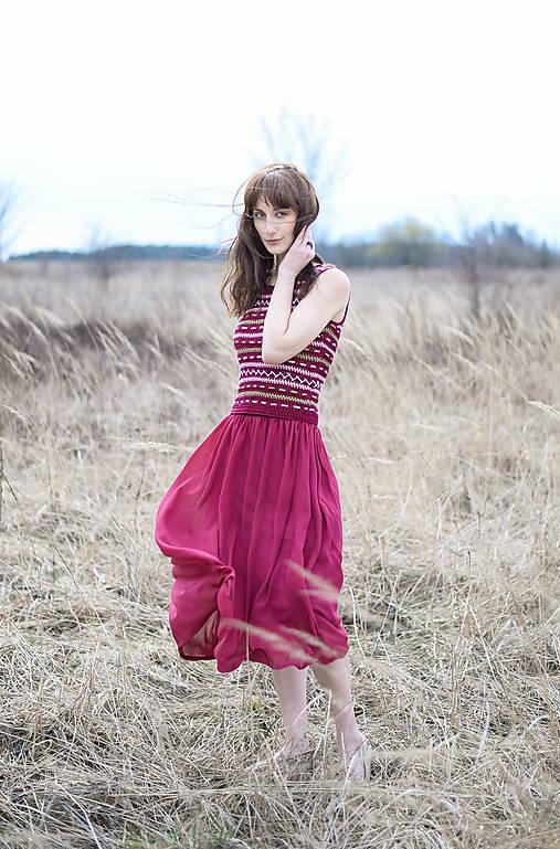 Oasis dress bordo