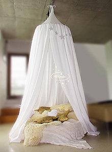 Textil - baldachýn biely - 10604615_