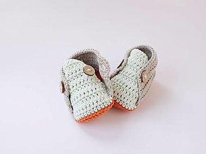 Topánočky - papučky s mentolovým jazykom - 10605717_