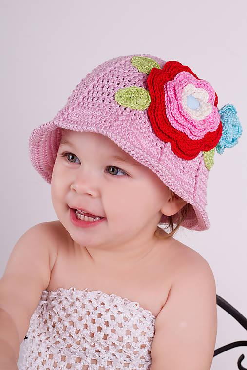 cc4e0dd0a5a3 Rozkvitnutý ~ háčkovaný klobúk   tvor.Ivka - SAShE.sk - Handmade ...