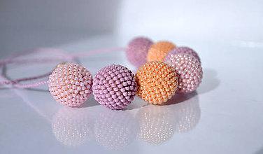 Náhrdelníky - náhrdelník - pastelový - 10603428_