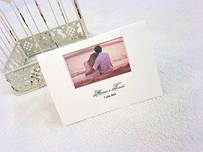 Papiernictvo - Svadobné oznámenie s fotkou