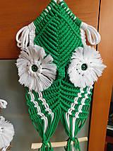 Dekorácie - Bubo  - zelený / hnedý - 10605031_