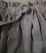 Sukne - ľanová dlhá sukňa - 10604362_