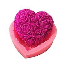 Pomôcky/Nástroje - Silikónová forma srdce, ruže, kvety, 1 ks - 10603567_