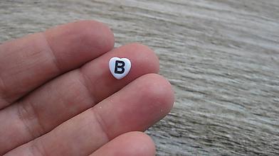 Korálky - Písmenkové korálky srdiečka celá abeceda, 1 ks - 10603968_