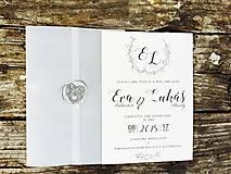 Papiernictvo - svadobné oznámenie Black and white - 10604384_