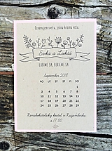 Papiernictvo - svadobné oznámenie Kalendár natur - 10604598_