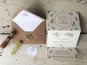 Papiernictvo - svadobné oznámenie Natural - 10603558_