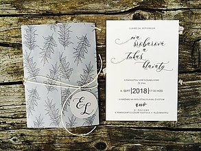 Papiernictvo - svadobné oznámenie Minimalistické pierka - 10603669_